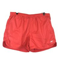 """Reebok RBX Performance Running Shorts Womens Size Large 34"""" X 5"""" Coral Red Pink"""