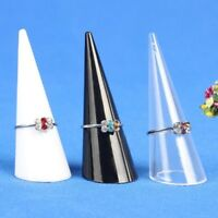 Ring Display Stand Jewelry Displaying Holder Show Organizer Finger Ring Cone 5PC