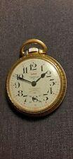 Vintage Waltham Pocket Watch 25 Jewels 51mm Railroad Dial Nice !!!