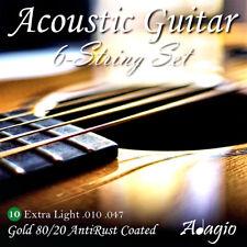 Adagio AntiRust Acoustic Guitar Strings Gauge 10-47 Full Pack