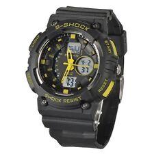 New Men's Black & Yellow Shock Protection Digital Quartz Watch