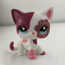 Littlest Pet Shop Collection Pink & White Sparkle Kitty Cat #2291 LPS Toy