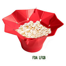 Silicone Ideal Microwave Magic Popcorn Maker Container Kitchen Cooking Tool 7192