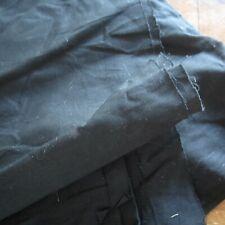 185cm Black Solid Cotton Poplin Sewing Craft Fabric 114cm wide