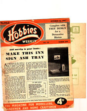 Vintage Hobbies Weekly, Oct 1952, 2970, Inn Sign Ashtray