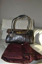 MULBERRY bag BAYSWATER EAST WEST VINTAGE HANDBAG brown mock croc leather DUSTBAG