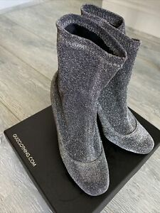 Quiz Ankle Boots Grey Glitter Size 3