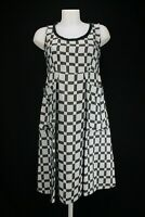 Marni Geomertric Empire Line Checked Brown Sleeveless Dress EU36 UK8 US4