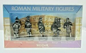 VTG Westair Roman Military Figures Silver Gladiator Pretorian Legionary Ensign