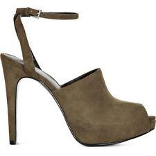 REISS Sylvia Shoes Heels Olive Ankle Strap Platform Sandals UK6/EU39 RRP £169