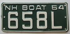 New Hampshire 1964 BOAT License Plate HIGH QUALITY # 658L