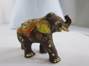Antique Japanese Moriage Elephant Figure Statue RP19