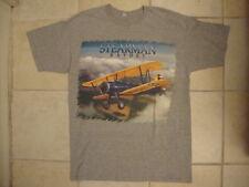 Stearman Kaydet Boeing Model 75 Biplane Fan Picture Soft Gray T Shirt L