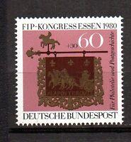 BRD 1980 Einzelmarke 1065 postfrisch aus Kleinbogen ** FIP Kongress Essen
