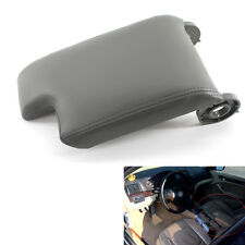 Car Center Armrest Cover Console Lid Gray for BMW E46 98-06 Leather & Plastic