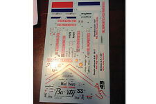 Decals March 761/B 1977 Formula 1 1/43rd scale for Tameo Kits by Cigale 43 CDS01