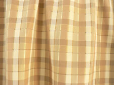 "Drapery Upholstery Fabric Reversible Yarn Dyed Faux Silk Plaid 60"" W - Natural"