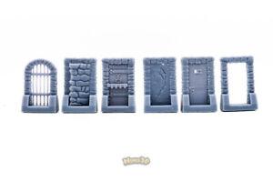 Door Secret, Cage - Heroquest, Gloomhaven, D&D - Minis3D