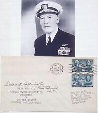 Admiral Roscoe Hillenkoetter 1st Director CIA 1947-1950 Autograph Rare