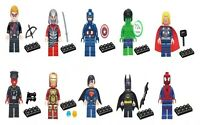 10 PCS MARVEL AVENGER SUPER HEROES MINIFIGURE FIT LEGO HULK BATMAN SUPERMAN