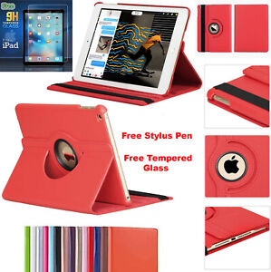 Magnetic 360 Smart Leather Case Cover+ Tempered Glass for Apple iPad MINI 5 2019