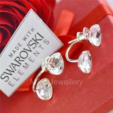 925 Silver Stud Earrings PEAR FANCY STONE Crystal F Crystals From Swarovski®