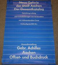 Vintage Neve Galerie der Stadt Aachen Football 33x23 Double Sided Poster