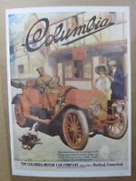1910 Columbia motor car co Vintage Poster 1970's print advertisement Inv#G1760