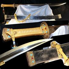 military parade Sword Hacking knife / Hand Forged Folded pattern steel blad#2230
