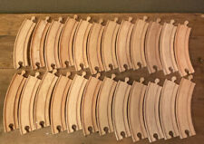 """Lot of 24 Curved Wooden Brio Thomas the Train Compatible 6.5"""" Tracks"""