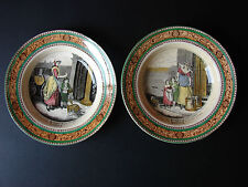 "2 Antique Adams 10"" Cries of London Bowls"