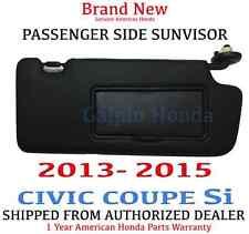 2013- 2015 Honda CIVIC COUPE Si Genuine Factory OEM Passenger Sunvisor W/Mirror