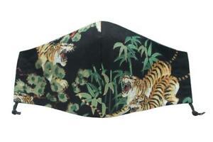 ORIENTAL TIGER Face Mask, Japan Japanese China Chinese Tropical Black UK Design