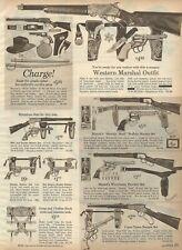 1964 Christmas Catalog page only Mattel Shootin Shell Buffalo Hunter Winchester