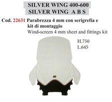 PARABREZZA PARAVENTO TRASPARENTE FACO HONDA SILVERWING 400-600 ABS L.645XH.750