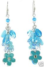 Solid 925 Sterling Silver Beaded Cluster Earrings '