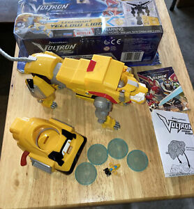 VOLTRON ~ YELLOW LION ~ Legendary Defender Action Figure ~ Open, Used ~ 100%