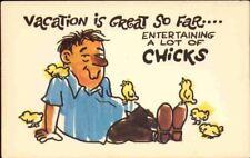 (odu) Comic Postcard: Vacation is Great So Far