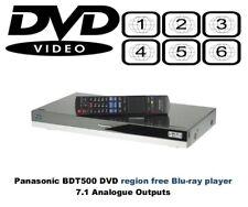 Panasonic DMP-BDT500 3D MULTI REGION FREE DVD 1-8 Blu-ray player 7.1 analogue RB