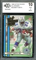 1990 Action Packed All-Madden #9 Emmitt Smith Rookie Card BGS BCCG 10 Mint+