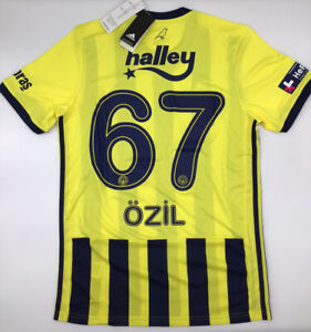Fenerbahce Home Yellow Jersey 2020/2021 Adidas Ozil # 67 S-M-L-XL New with Tags