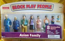 ELC Lakeshore Block Play People Asian Family 8 Figures Play therapy Ryan's Room
