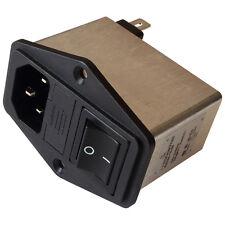 Schaffner FN284-10-06 Netzfilter 250V AC 10A IEC Inlet-Filter Fuse Switch 855209