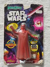 Vintage 1994 Bendems Star Wars Royal Guard Justoys con Topps Trading Card