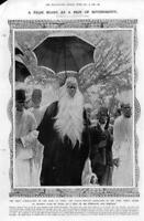 1908 Antique Print - AFRICA King Toro Kasagama Beard Monkey Hair Uganda (228)