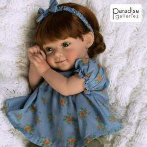 """Paradise Galleries Reborn Toddler Baby Doll """"Pumpkin Spice"""" - 19 inches"""