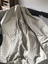 M&S 90x90 Geometric Pattern Cream And Aqua/ Teal/ Duck Egg Pair Curtains