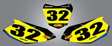 Yamaha TTR 50 / 2006 - 2015 / Number plates Barbed style stickers / decals