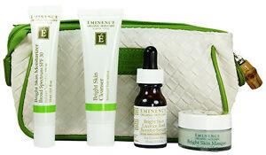 Eminence Bright Skin Starter Set Uneven Skin 4 Products Fresh New