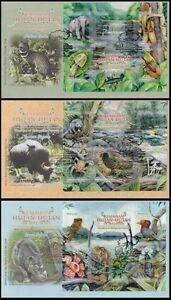 Malaysia Forests 2013 Civet Spider Butterfly Wildlife Pitcher Rhinoceros Ox (FDC